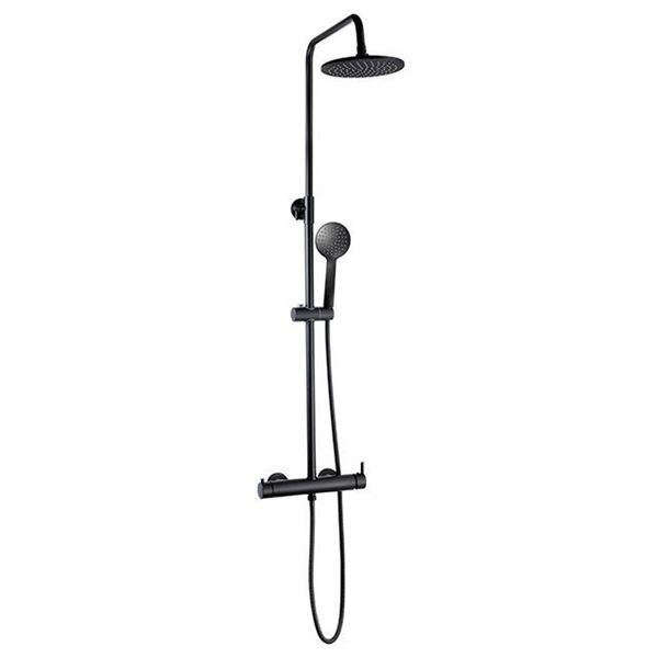 Picture of Complete shower column set black mate