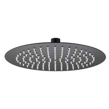 Picture of SS304 shower head round 200mm x 200mm Matt black
