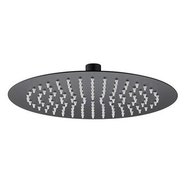 Picture of SS304 shower head round 300mm x 300mm Matt black